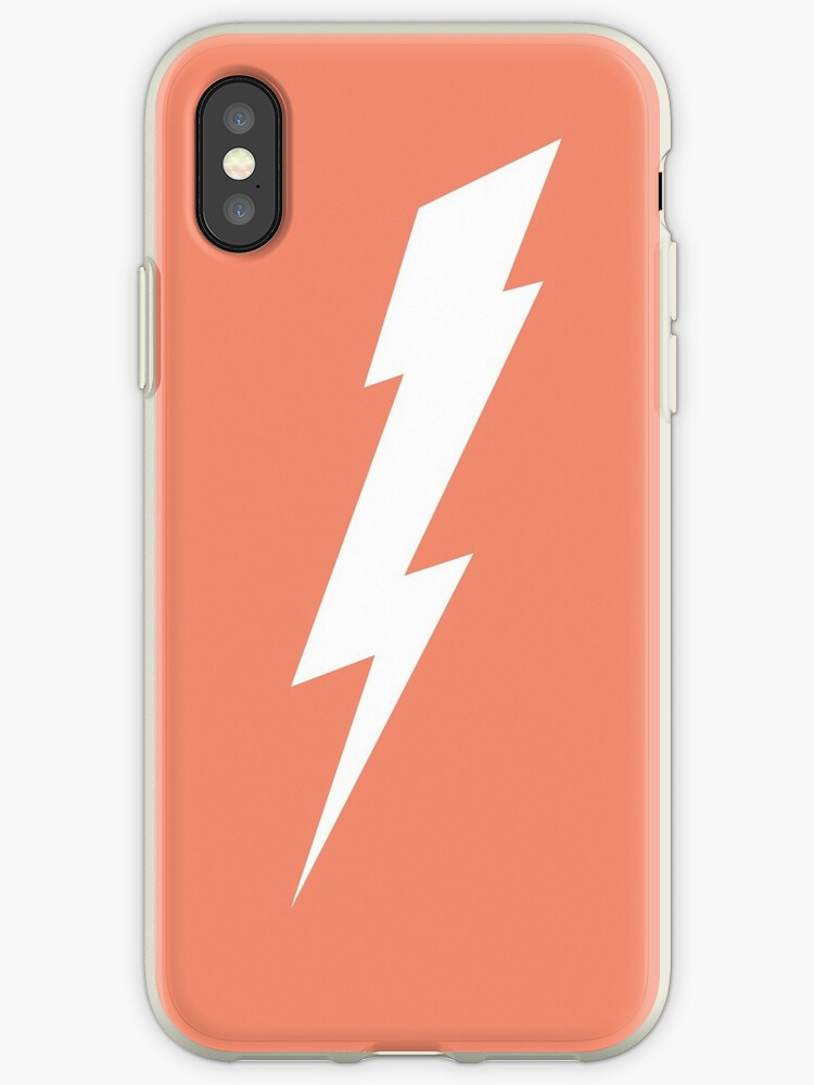 separation shoes e104e 42653 'Lightning Bolt - White' iPhone Case by ktlc