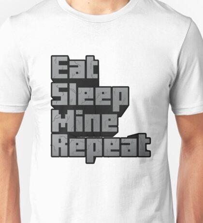 Minecraft: Eat, Sleep, Mine, Repeat! Unisex T-Shirt