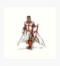 Templar Knight Art Print