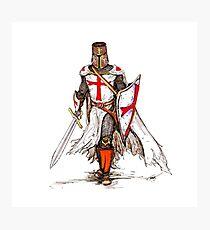 Templar Knight Photographic Print