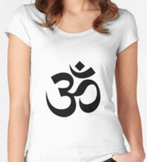 Yoga Om Women's Fitted Scoop T-Shirt