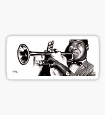 LOUIS ARMSTRONG JAZZ (C) GYLLIAYN Sticker