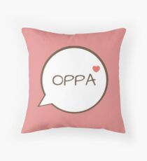OPPA - Pink Throw Pillow