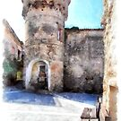 Vatolla: tower with fountain by Giuseppe Cocco