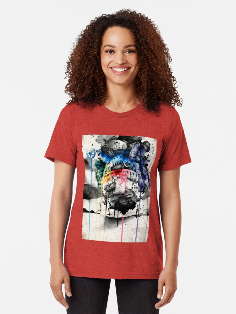 Alternate view of Howl's Moving Castle Tri-blend T-Shirt