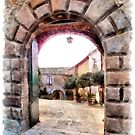 Vatolla: entrance castle and courtyard by Giuseppe Cocco