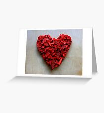 LEGO Heart Greeting Card
