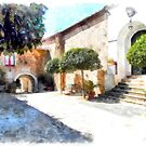 Vatolla: courtyard of the castle by Giuseppe Cocco