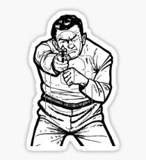 punk shooting range target Sticker