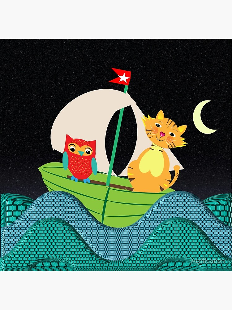 The Owl And The Pussy Cat When To Sea by Artification