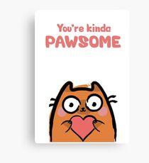 Cute Love Cat Canvas Print