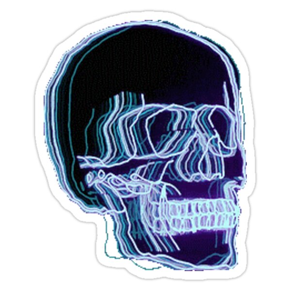 Quot Neon Trippy Skull Quot Stickers By Amandabrynn Redbubble