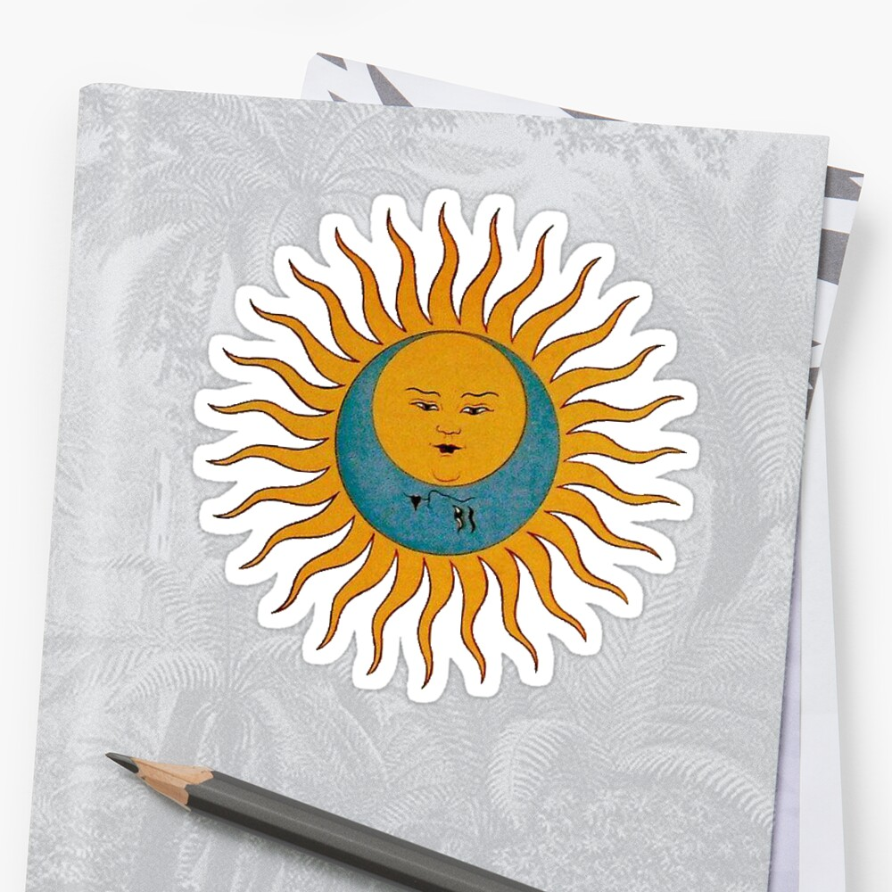 Quot Sun Amp Moon Quot Sticker By Amandabrynn Redbubble