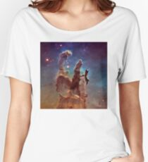 Pillars of Creation, Eagle nebula, space exploration Women's Relaxed Fit T-Shirt