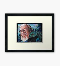George R. R. Martin Father Of Dragons Framed Print