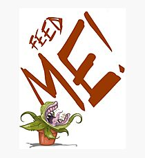 Feed Me (Talking Audrey) Photographic Print