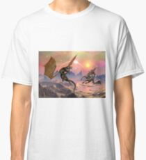Fantasy Landscape with Dragons Classic T-Shirt