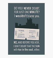 Blue - Downton Abbey  Photographic Print