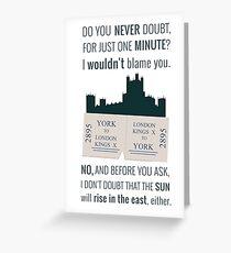 Downton Abbey Greeting Card
