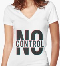 No Control 3D 1D Women's Fitted V-Neck T-Shirt