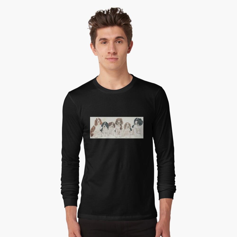 English Springer Spaniel Puppies Long Sleeve T-Shirt