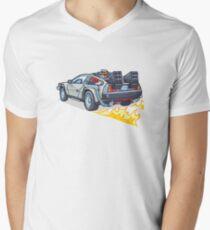 D. M. C. OUTATIME T-Shirt mit V-Ausschnitt