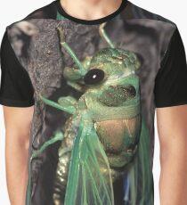 Cicada of Emerald & Gold Graphic T-Shirt