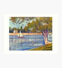 Georges Seurat The Seine and la Grande Jatte - Springtime Art Print