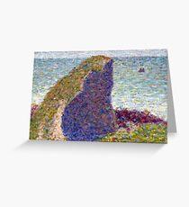 Georges Seurat Study for Le Bec du Hoc, Grandcamp Greeting Card