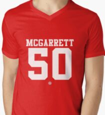 Steve McGarrett football jersey 50 Men's V-Neck T-Shirt