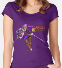 Camiseta entallada de cuello ancho La leyenda de Waluigi: Wah Force Hero
