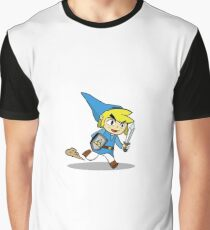 Blue Toon Link Graphic T-Shirt