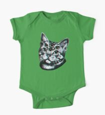 Psychedelic Cat (3D vintage effect) One Piece - Short Sleeve