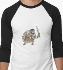 Human Male Barbarian Men's Baseball ¾ T-Shirt