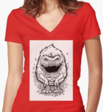 Critter Women's Fitted V-Neck T-Shirt