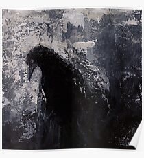 Original Gothic Crow Raven Painting  Poster