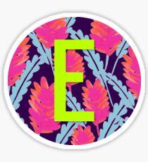"""E"" Letter Monogram Sticker"