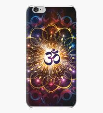 """""""The higher power of Om"""" - sacred geometry iPhone Case"""