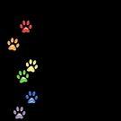 Kittyprints - Multi on Black by ladyrockbottom
