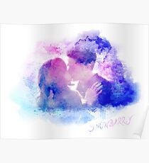 Snowbarry Colourful Kiss Poster
