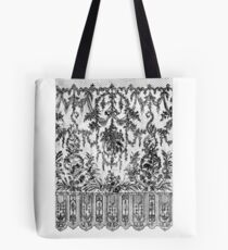 Black Lace Tapestry Tote Bag