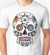 Sugar skull bikes watercolor Unisex T-Shirt