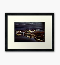 Night on the Sacramento Waterfront Framed Print
