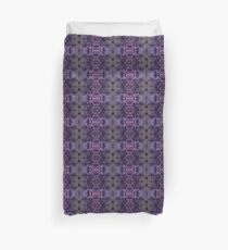 Purple Iris Abstract Pattern Duvet Cover