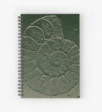 Ammonite Fossil Dark Grey Green Spiral Notebook
