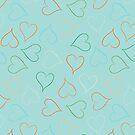 Beach hearts by Morag Anderson