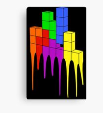 Tetris Melt Canvas Print