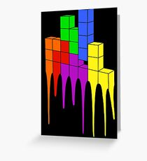 Tetris Melt Greeting Card