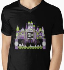 Is This Small World Actually Stretching? (for Darker Rides) Men's V-Neck T-Shirt