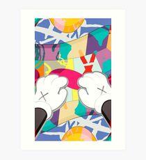 kaws paws 2 mickey   Art Print